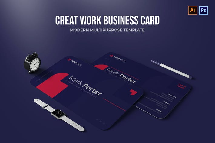 Thumbnail for Create Work - Business Card
