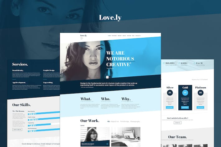 Thumbnail for Lovely - PSD Template