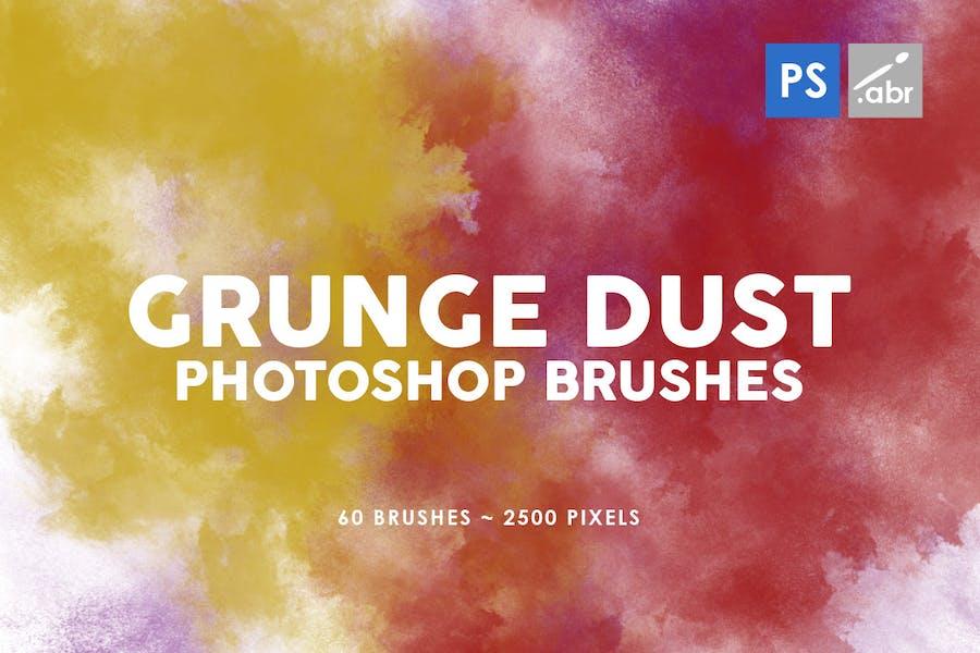 60 Grunge Dust Photoshop Stamp Brushes