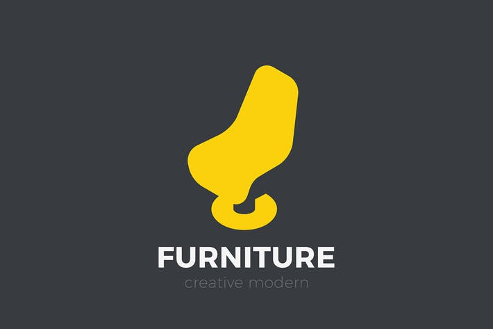 Thumbnail for Arm Chair Logo Furniture Negative space