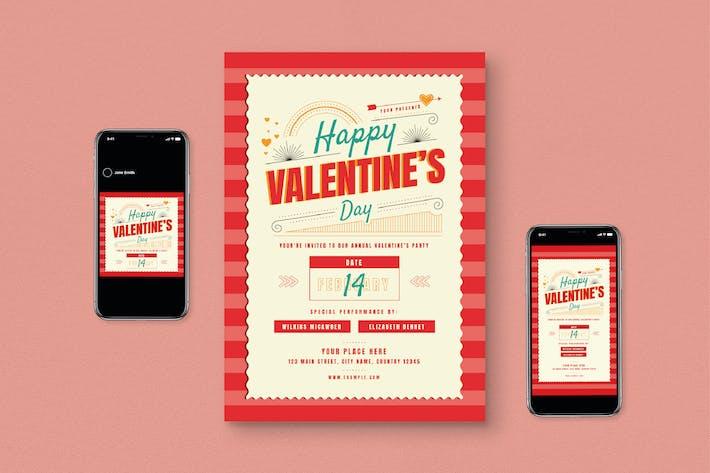 Thumbnail for Valentine Day Flyer Set