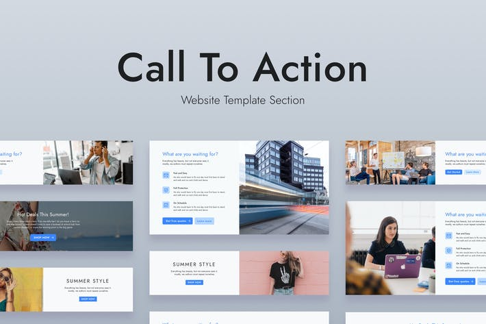 Thumbnail for Web Call To Action Template