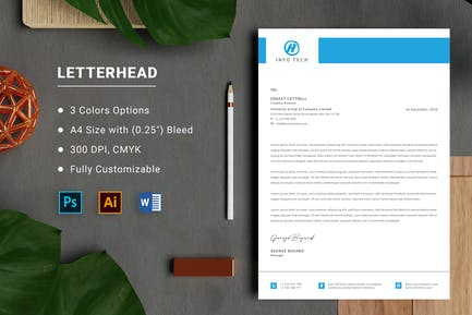 Letterhead for Microsoft Word Office
