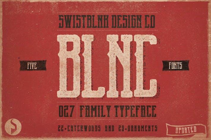 Thumbnail for Tipo de letra de la familia Blnc