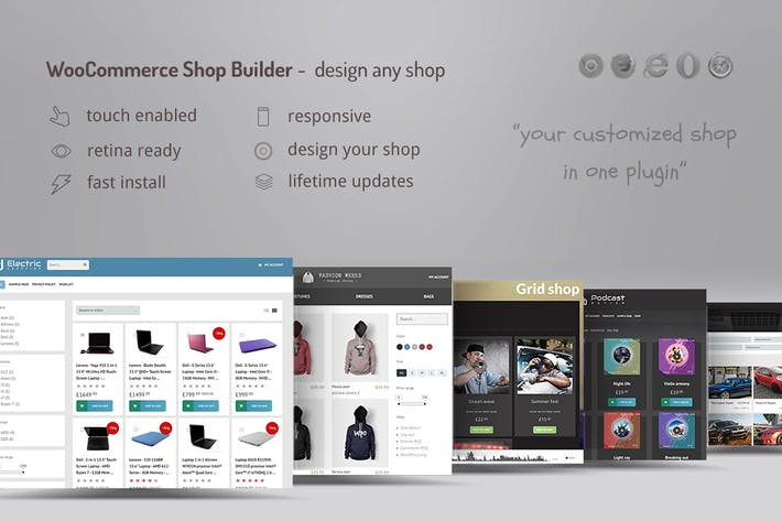 Thumbnail for WooCommerce shop page builder