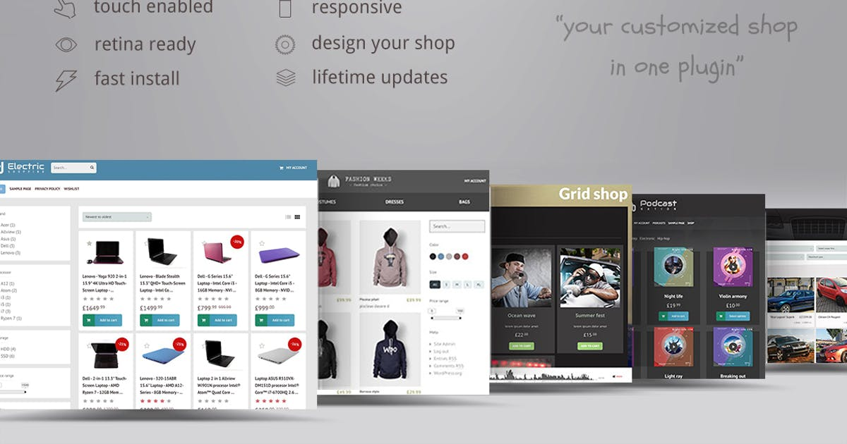 Download WooCommerce shop page builder by ZoomIt