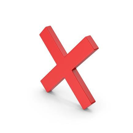Rote Symbol-X-Marke