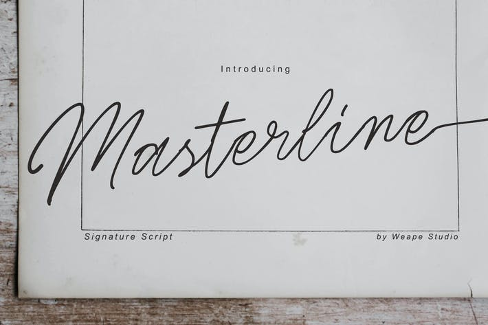 Thumbnail for Masterline Signature Script
