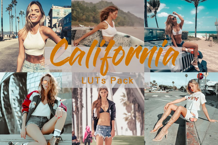 California |LUTs for Video and Photo Color Grading