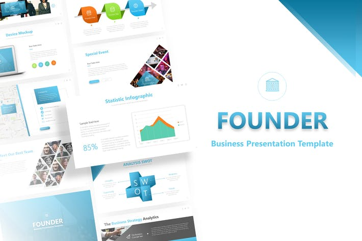 Thumbnail for Основатель — бизнес-Шаблон Powerpoint