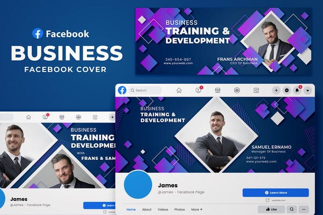 Facebook Cover Geometric - Business Fans Page