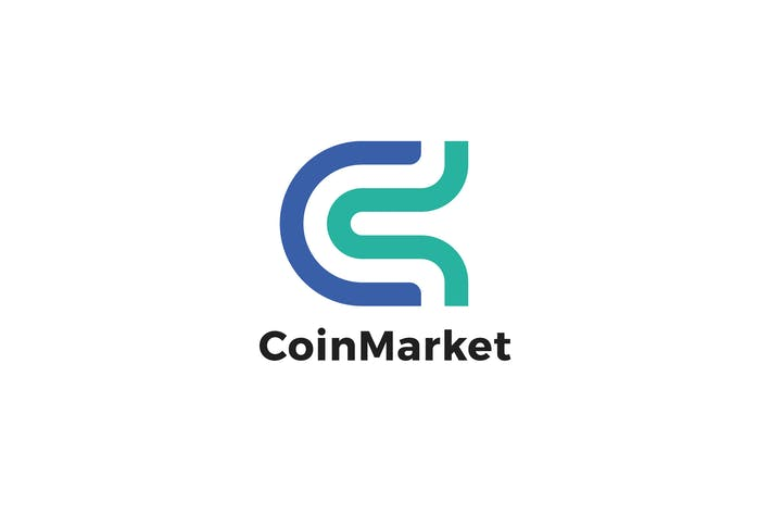 Thumbnail for Coin Market C Letter Logo Template