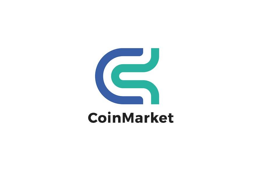 Coin Market C Letter Logo Template