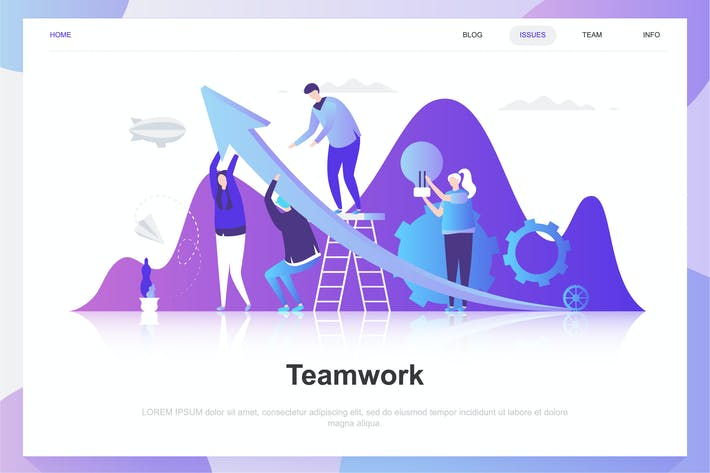 Cover Image For Teamwork Flat Concept