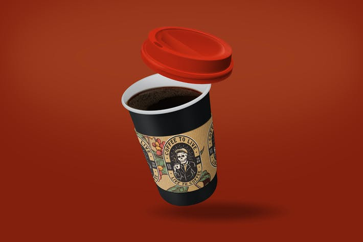 Thumbnail for Coffee Cup Sleeve Mockup