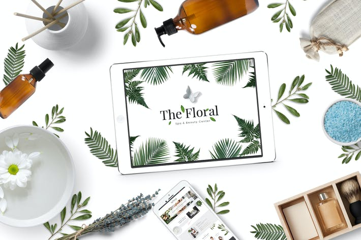 Thumbnail for Floral - Spa and Beauty PSD Template