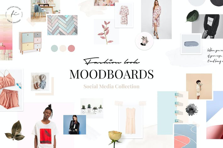 Thumbnail for Fashion Look Mood Boards Collection