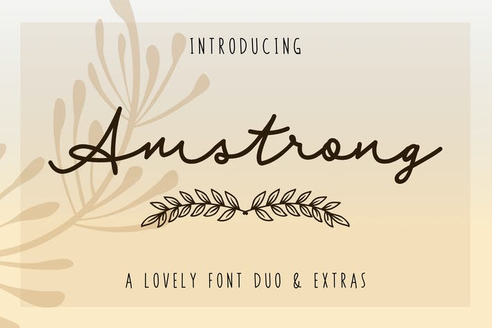Thumbnail for Amstrong - Font Duo + Extras