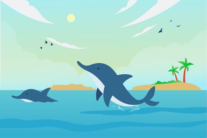 Thumbnail for Delphin-Illustration
