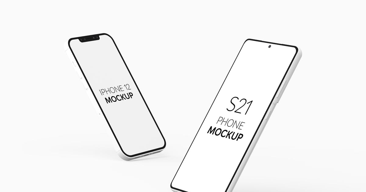 Download S21 Phone & iPhone 12 Mockup by UnicDesign