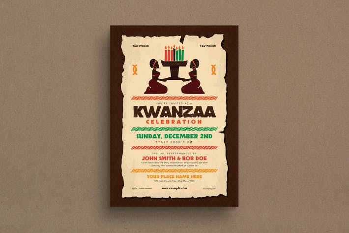 Thumbnail for Kwanzaa Event Flyer