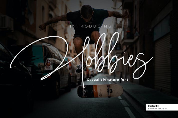 Thumbnail for Hobbies Signature Font