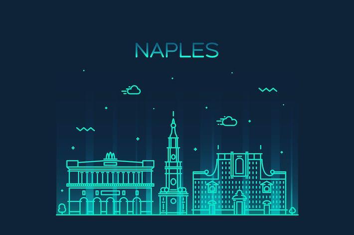 Thumbnail for Naples skyline, Italy