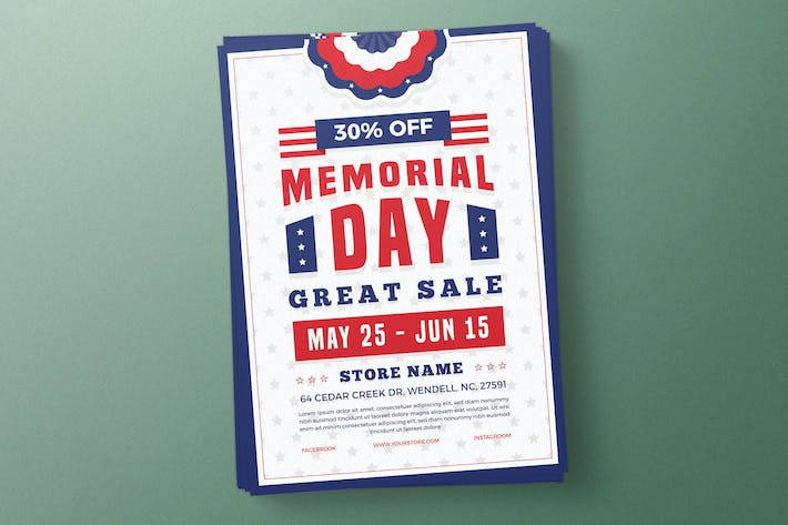 Thumbnail for Memorial Day Sale Flyer