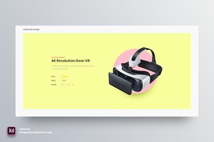 Single Product - Adobe XD
