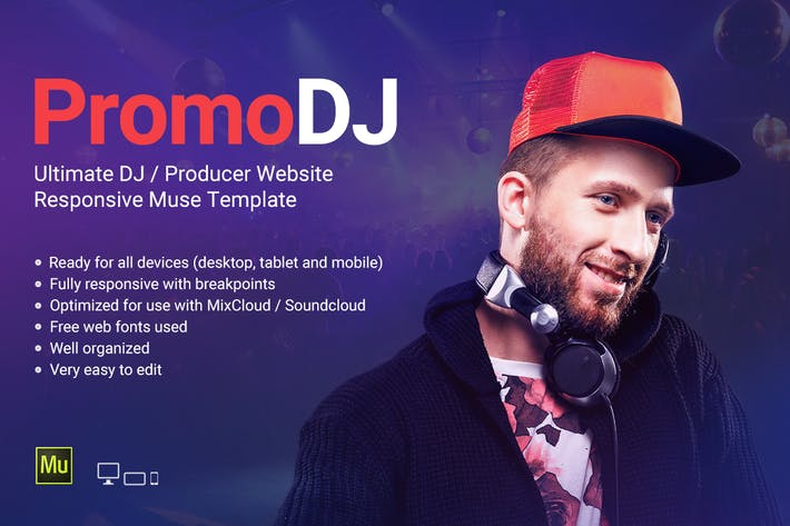 Cover Image For PromoDJ - DJ / Producer Personal Site template
