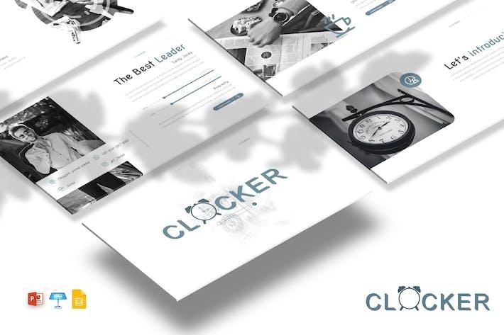 Thumbnail for Clocker - Powerpoint / Google Slides / Keynote