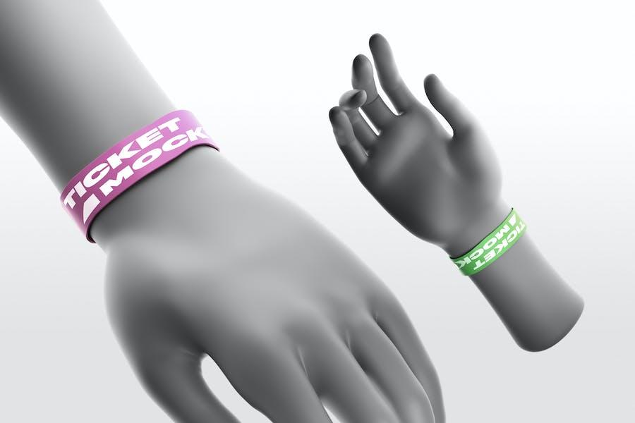 Wristband Ticket Mockups
