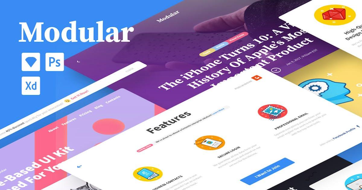 Download Modular UI kit by pixelbuddha_graphic