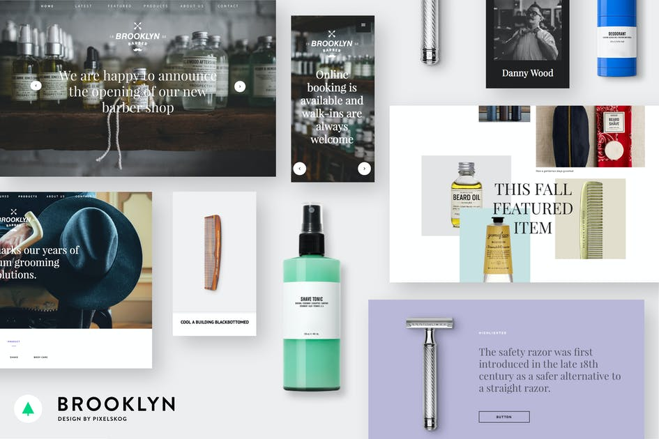 Download Brooklyn -Clean And Modern Onepager & Multipager d by designfetch