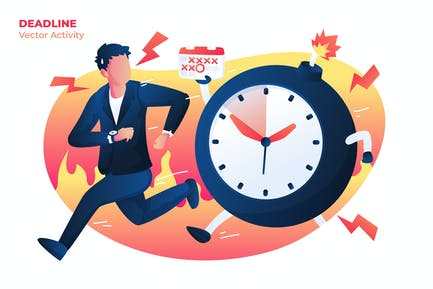 Deadline - Vector Illustration