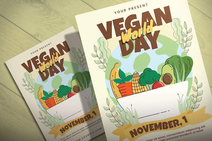 Journée mondiale végétalienne - Modèle de dépliant