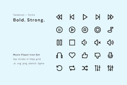 UI Icon Set - Music Player