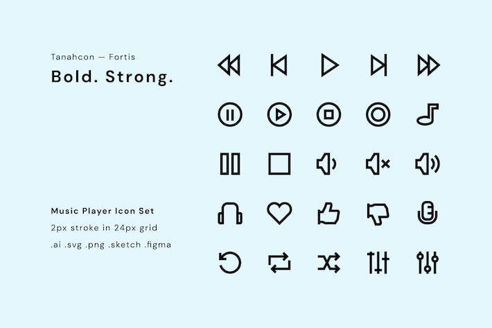 Thumbnail for UI Icon Set - Music Player