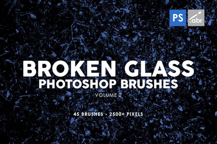 45 Broken Glass Photoshop Stamp Brushes Vol. 2