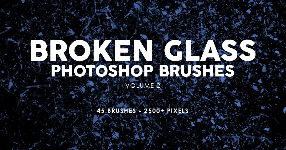 45 Broken Glass Photoshop Stamp Brushes Vol. 2 by M-e-f