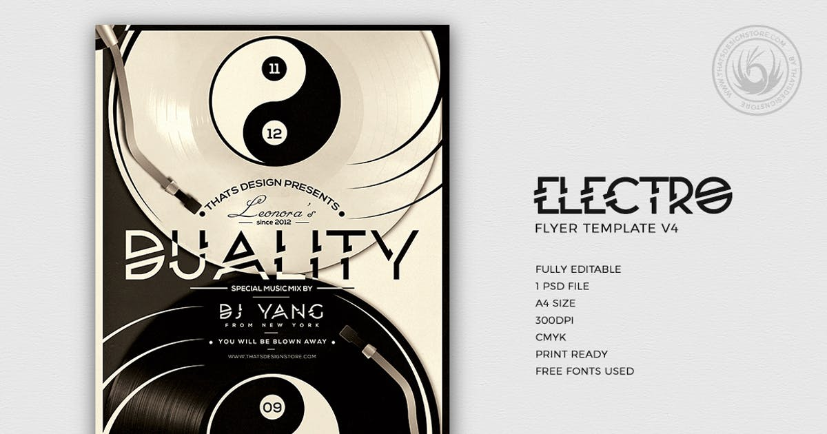 Download Electro Flyer Template V4 by Unknow