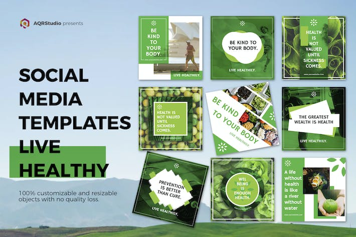 Thumbnail for Healthy Life Media Banners