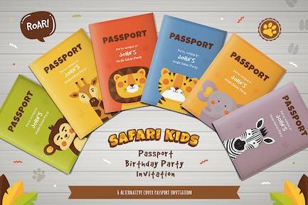 Safari Party Passport Birthday Invitation