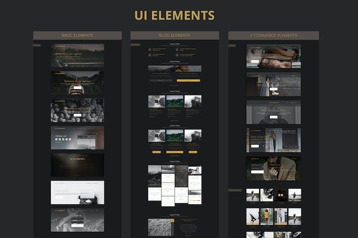 Thumbnail for UI Elements for blog & shop