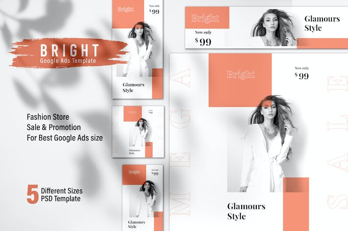 Thumbnail for BRIGHT Fashion Store Google Ads Web Banner