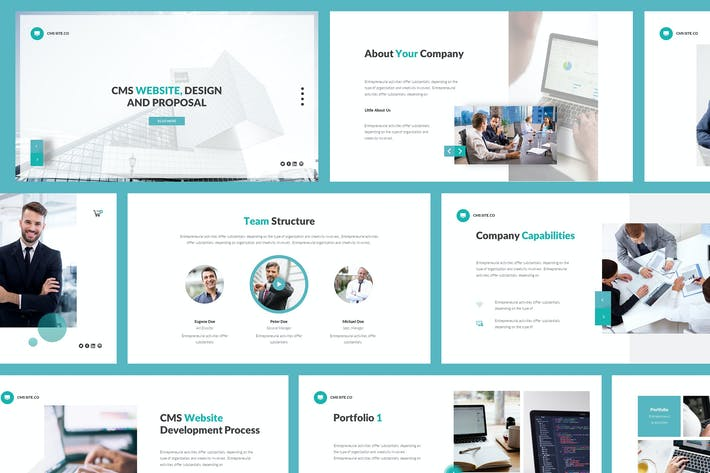 Thumbnail for CMS Website Design And Proposal Powerpoint