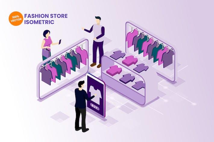Thumbnail for Isometric Fashion Store Vector Illustration