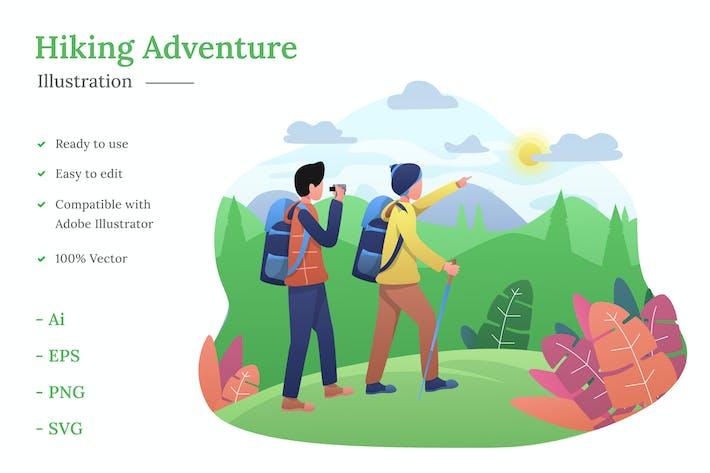 Thumbnail for Hiking Illustration