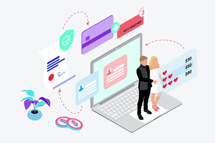 Thumbnail for Buy Love Insurance by Digital Wallet Isometric