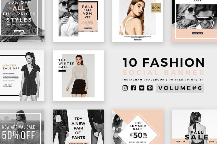 Thumbnail for Fashion Social Media Banners - Kit 06